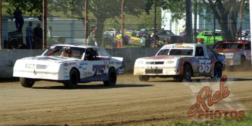 James Fletcher and Jesse Krahn DCSA Street Stock Racing