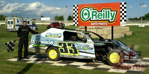 Dan Roedl Twisted Iron Custom Cycles IMCA Modified Heat Race Win