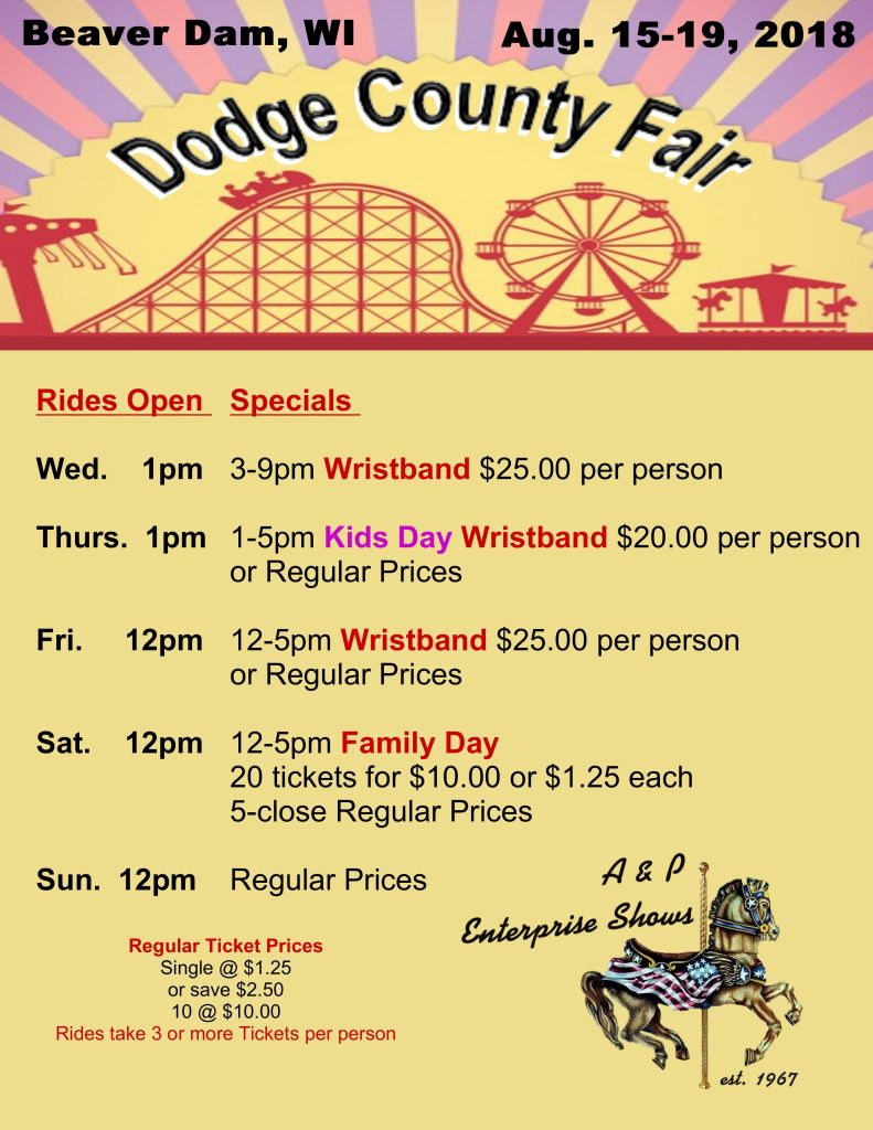 AP Carnival 2018 Dodge County Fair Poster