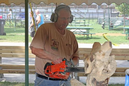 Chainsaw carving auction dodge county fairgrounds