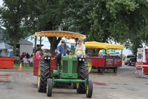 Dodge County Antique Power Club Rides at John Deere Event