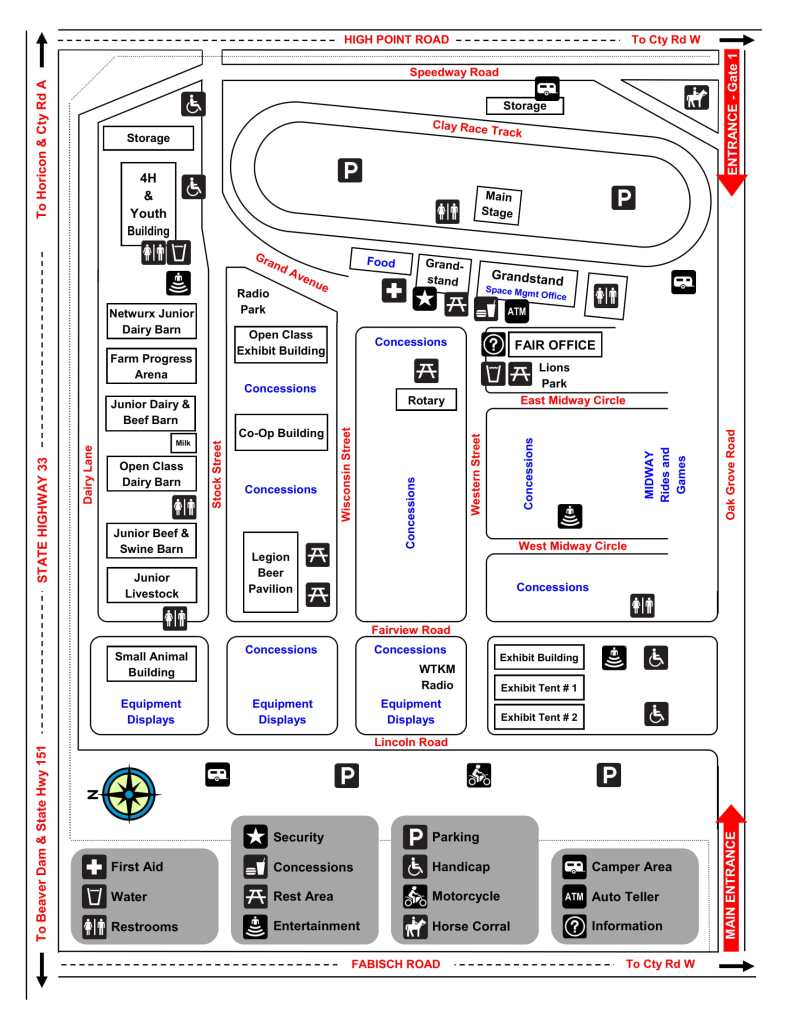 Dodge County Fair Layout Map