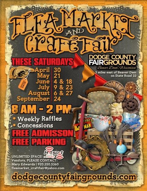 Dodge County Flea Market Craft Fair Advertisement 2016