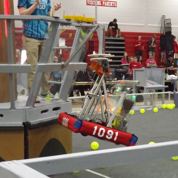 FIRST Robotics demonstration at the Dodge County Fair