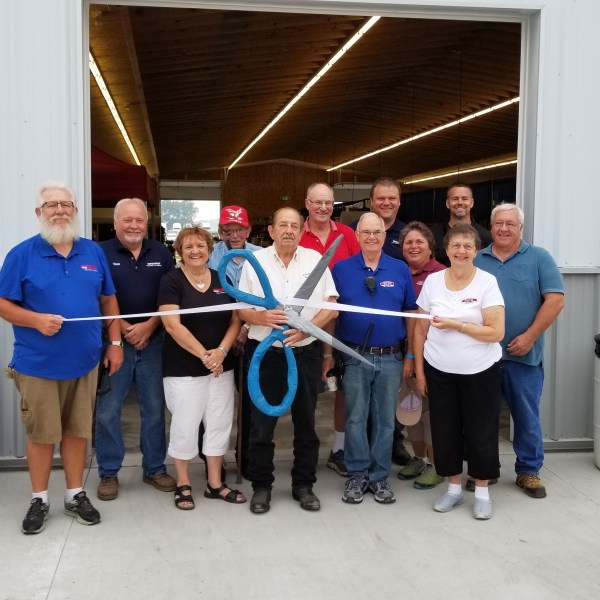 Ribbon Cutting of New Commercial Building for the 2018 Dodge County Fair
