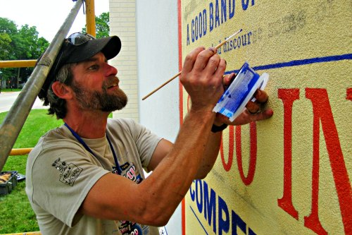 Wade Lambrigtsen mural project leader