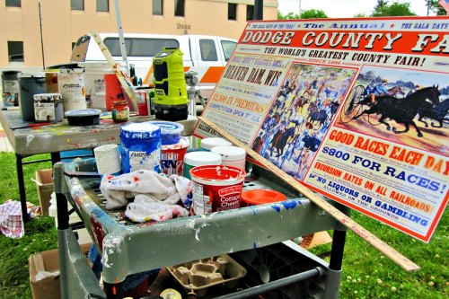 Walldogs Painting Dodge County Fair