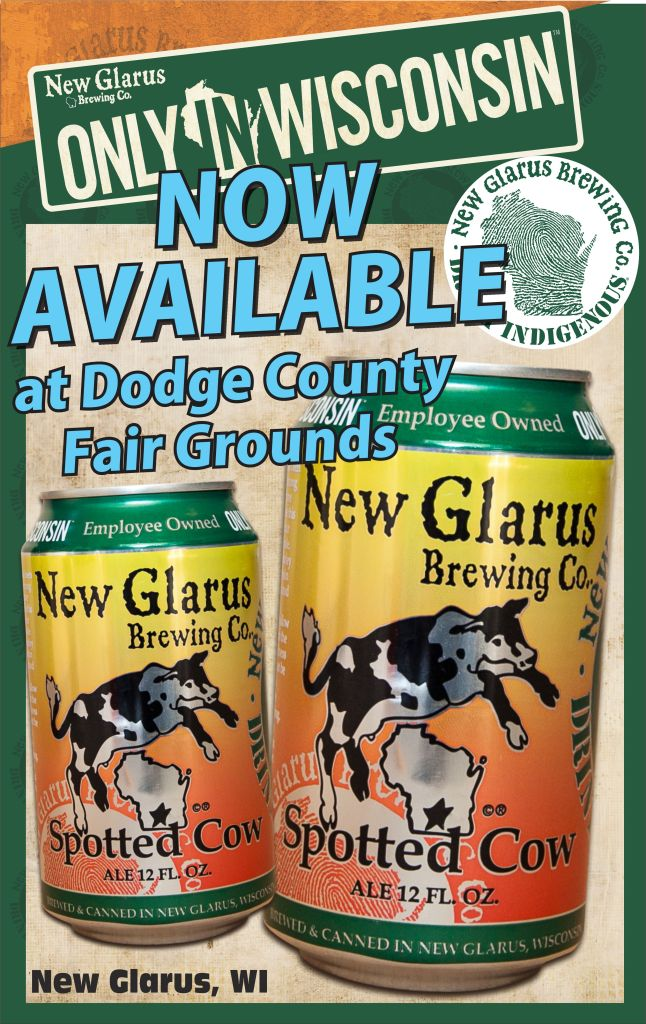 Spotted Cow Cans available at Dodge County Fair