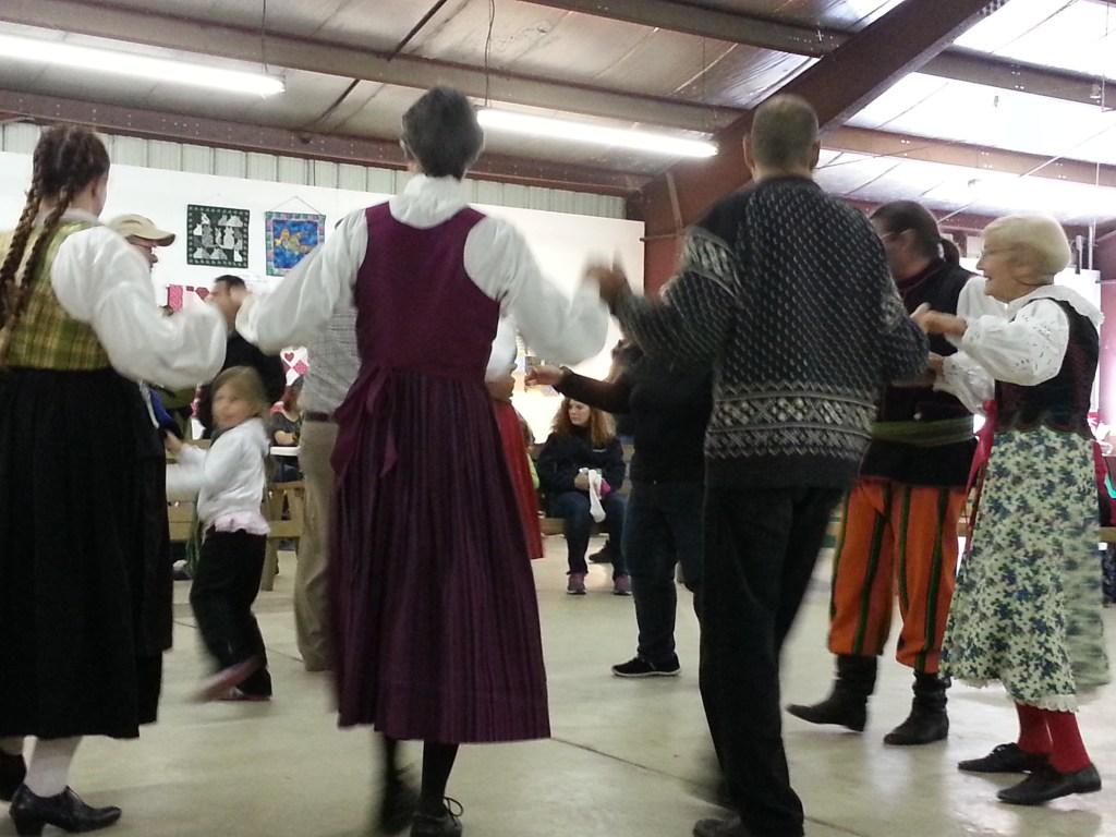 old time gathering dancers