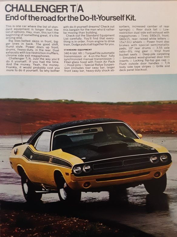 1970 Dodge Challenger T/A advertisement