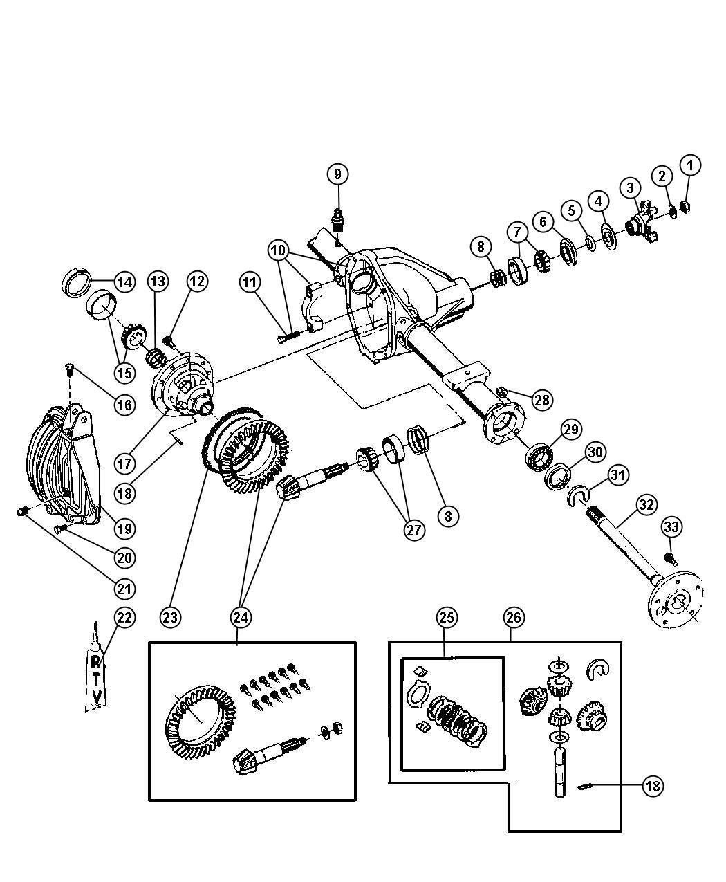 Dodge Ram Yoke Axle Yoke Assembly Driveshaft