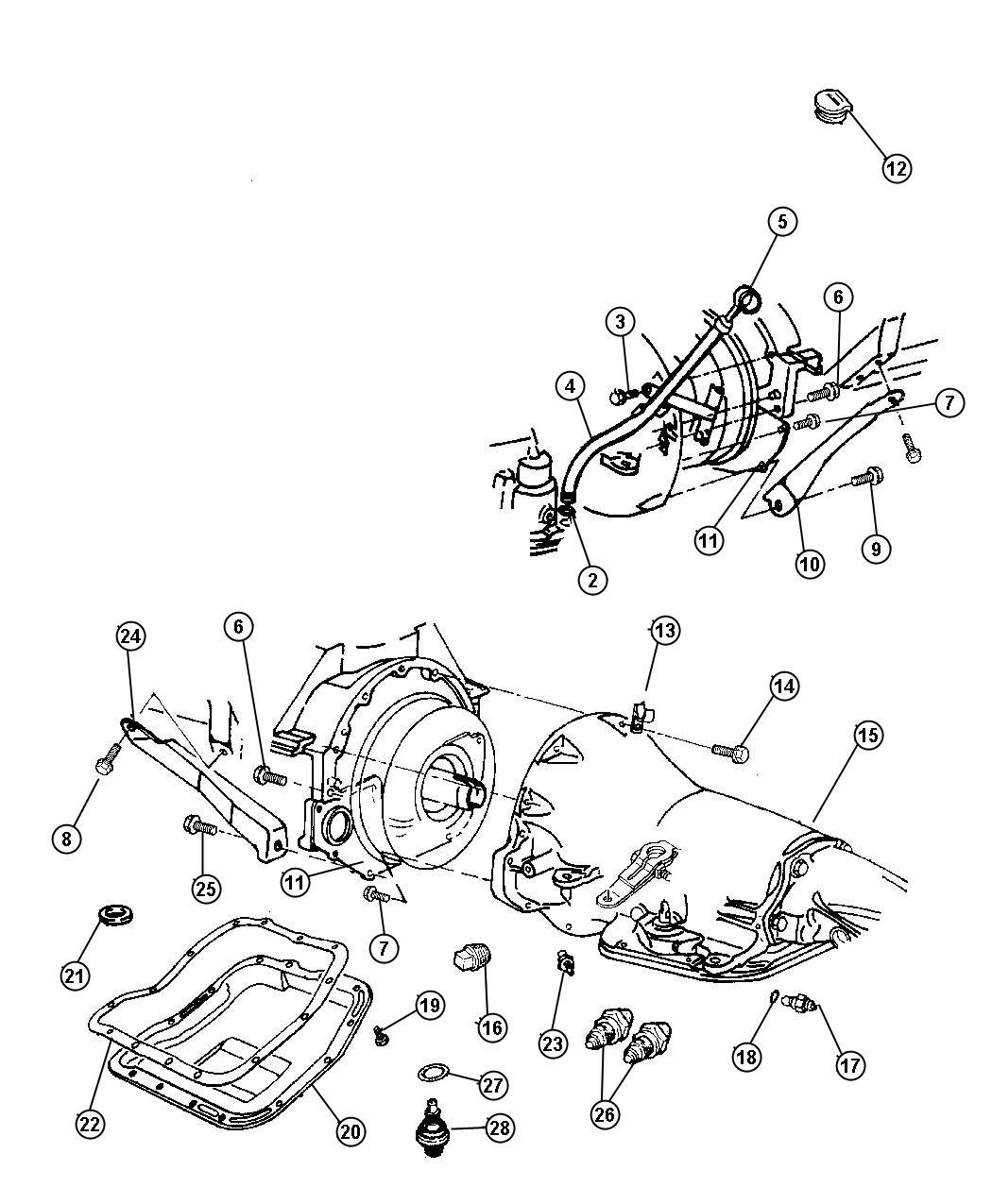 Dodge Ram Cover Transmission Dust Flat Case