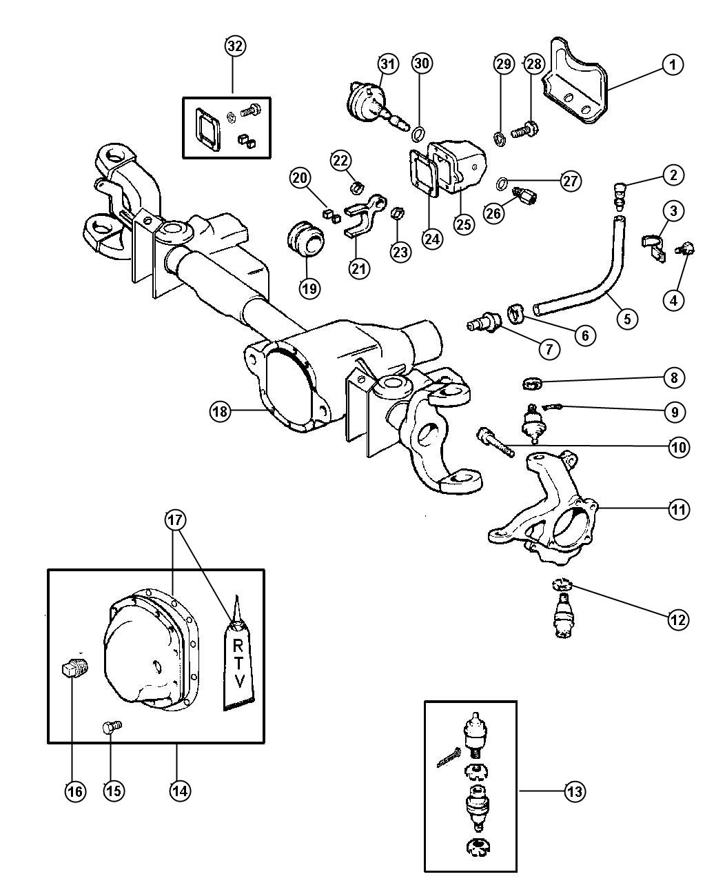Dodge Durango Motor Kit Axle Vacuum Djf