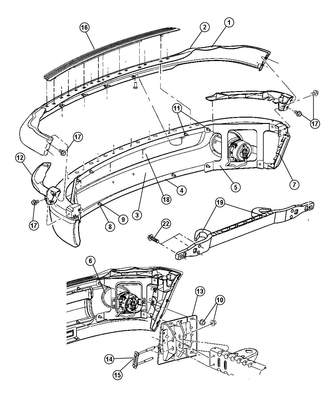 Dodge Ram Panel Right Front Bumper Mct Xea