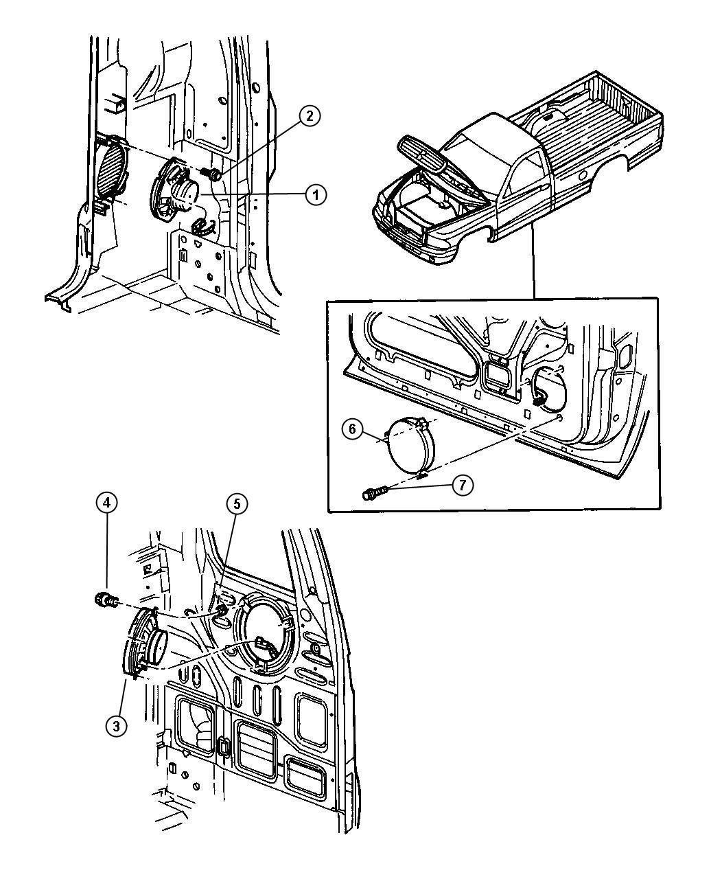 Dodge Dakota Speaker 6 5 Front Door Infinity