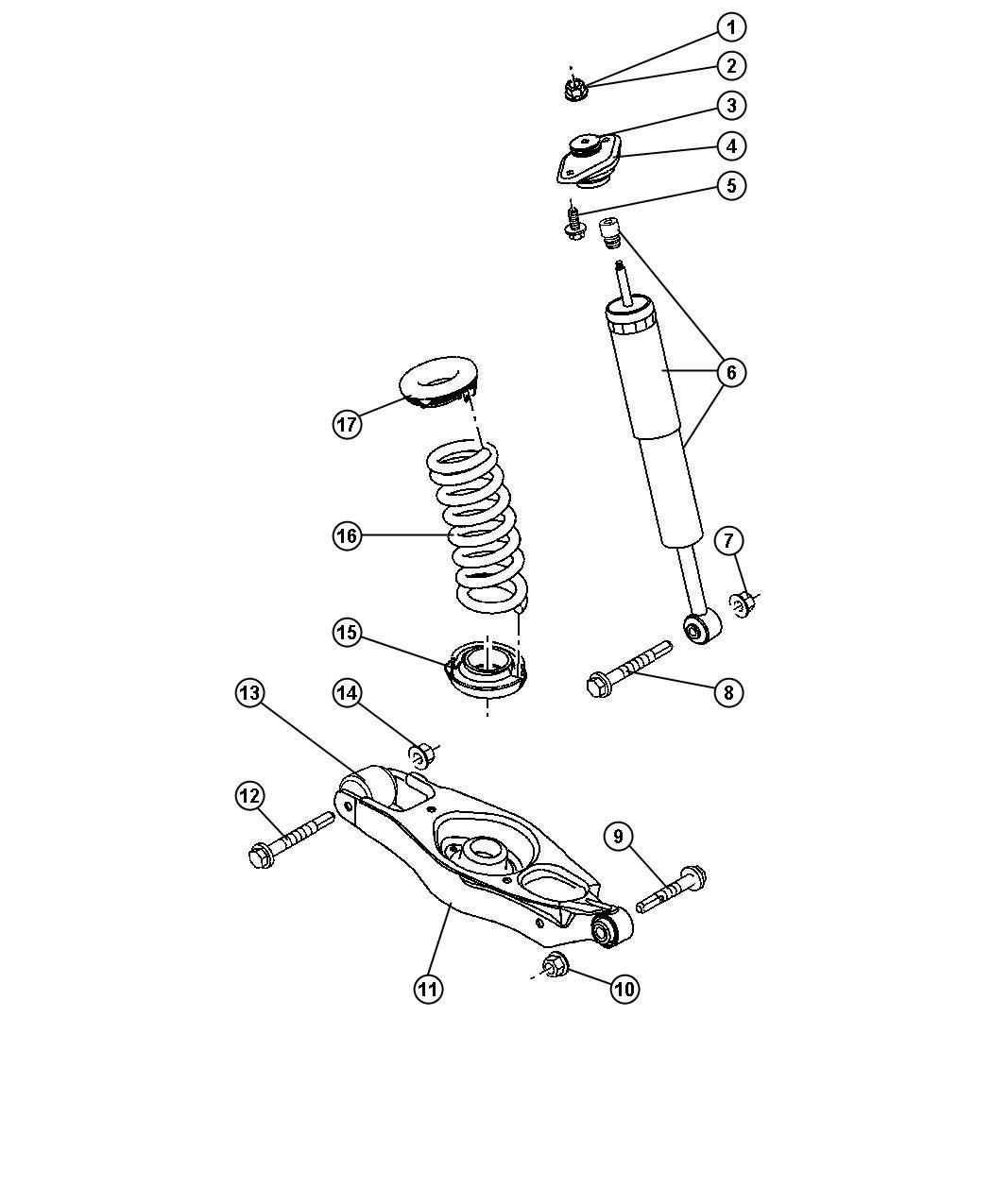 Dodge Charger Isolator Spring Upper Suspension Shocks