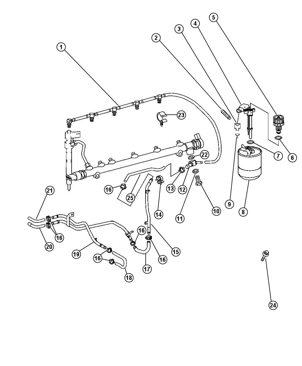 Dodge Viper Screw Fuel Filter Screw To Fuel Filter