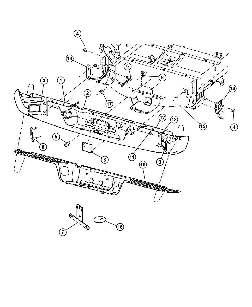 Dodge Ram Bracket Right Bumper Bumper To Frame Rail Xbs