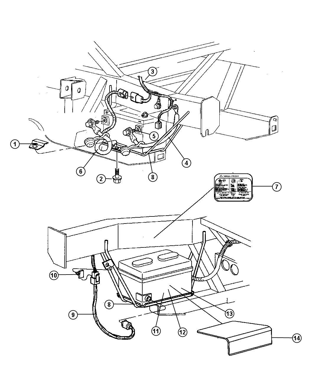 Dodge Charger Sensor Battery Temperature After 03