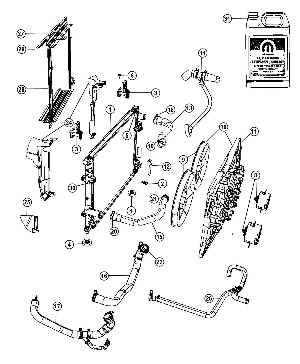 Pt Cruiser Radiator Hose Diagram
