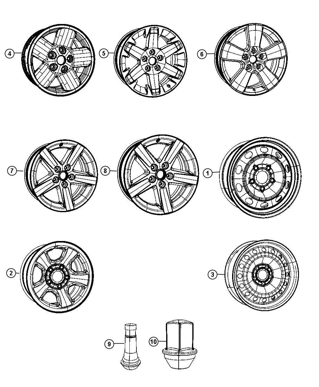 Dodge Ram Wheel Aluminum Front Or Rear Wheels