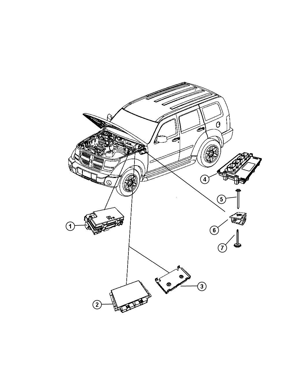 2007 Dodge Nitro Engine Compartment Diagram