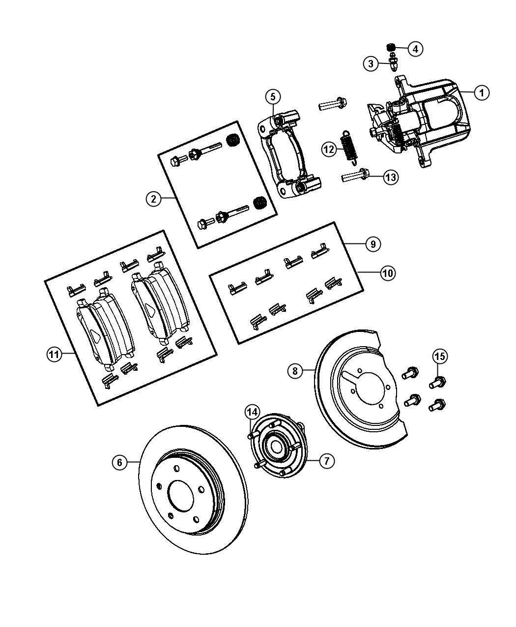 Dodge Journey Pad Kit Rear Disc Brake Wheel Brakes