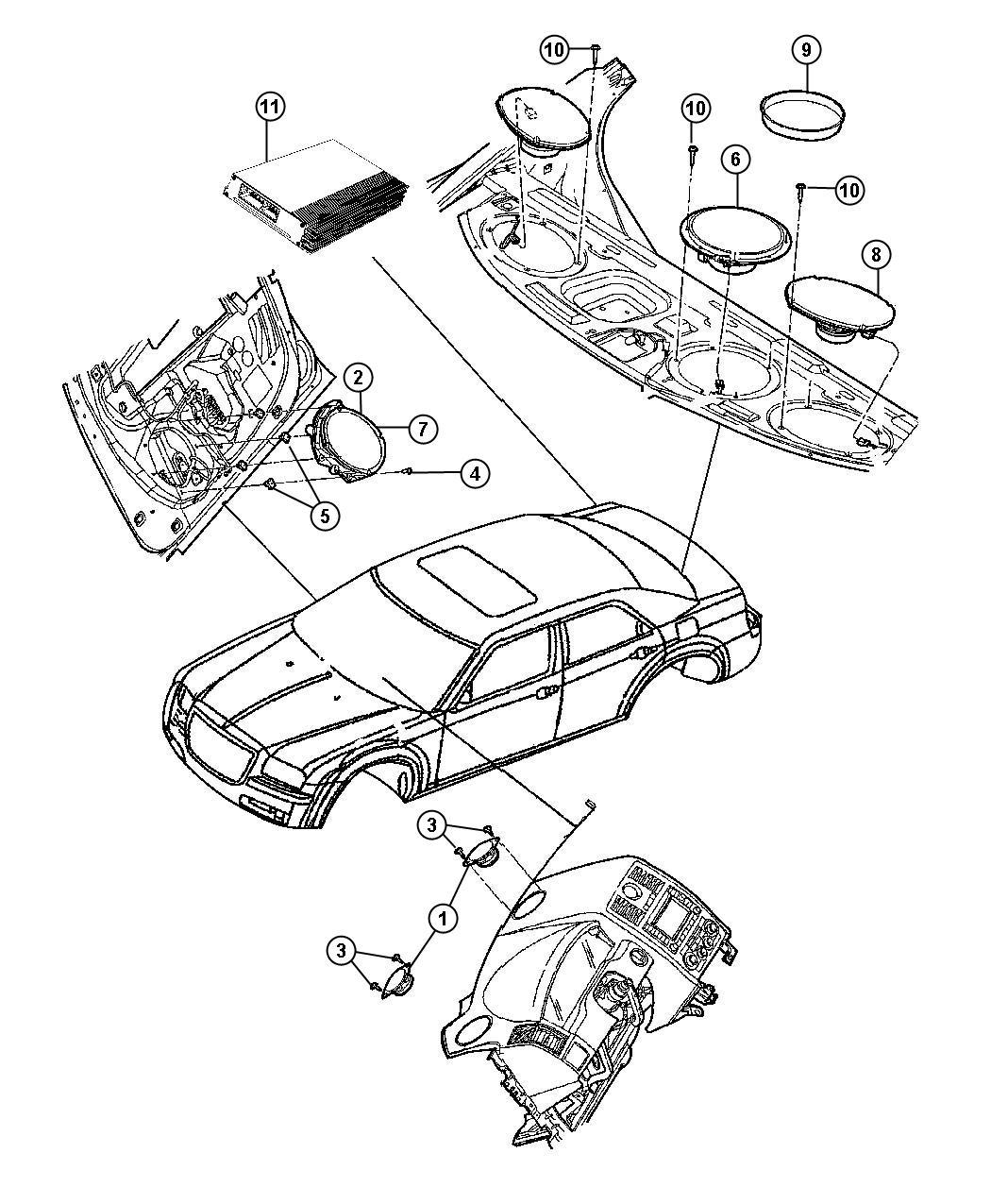 Dodge Charger Speaker Sub Woofer Shelf Panel High Perf