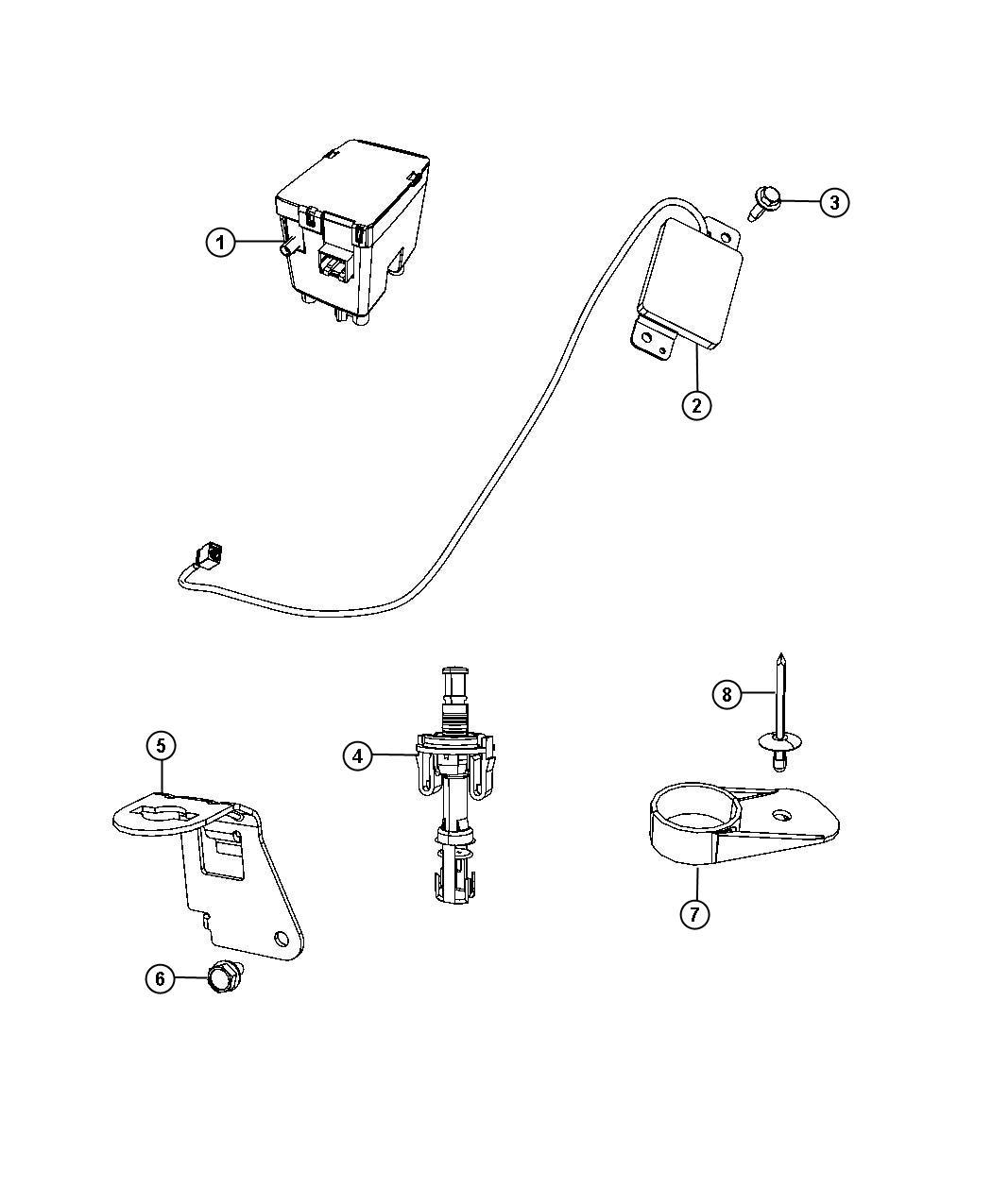 Dodge Ram Receiver Wireless Ignition Node Trim