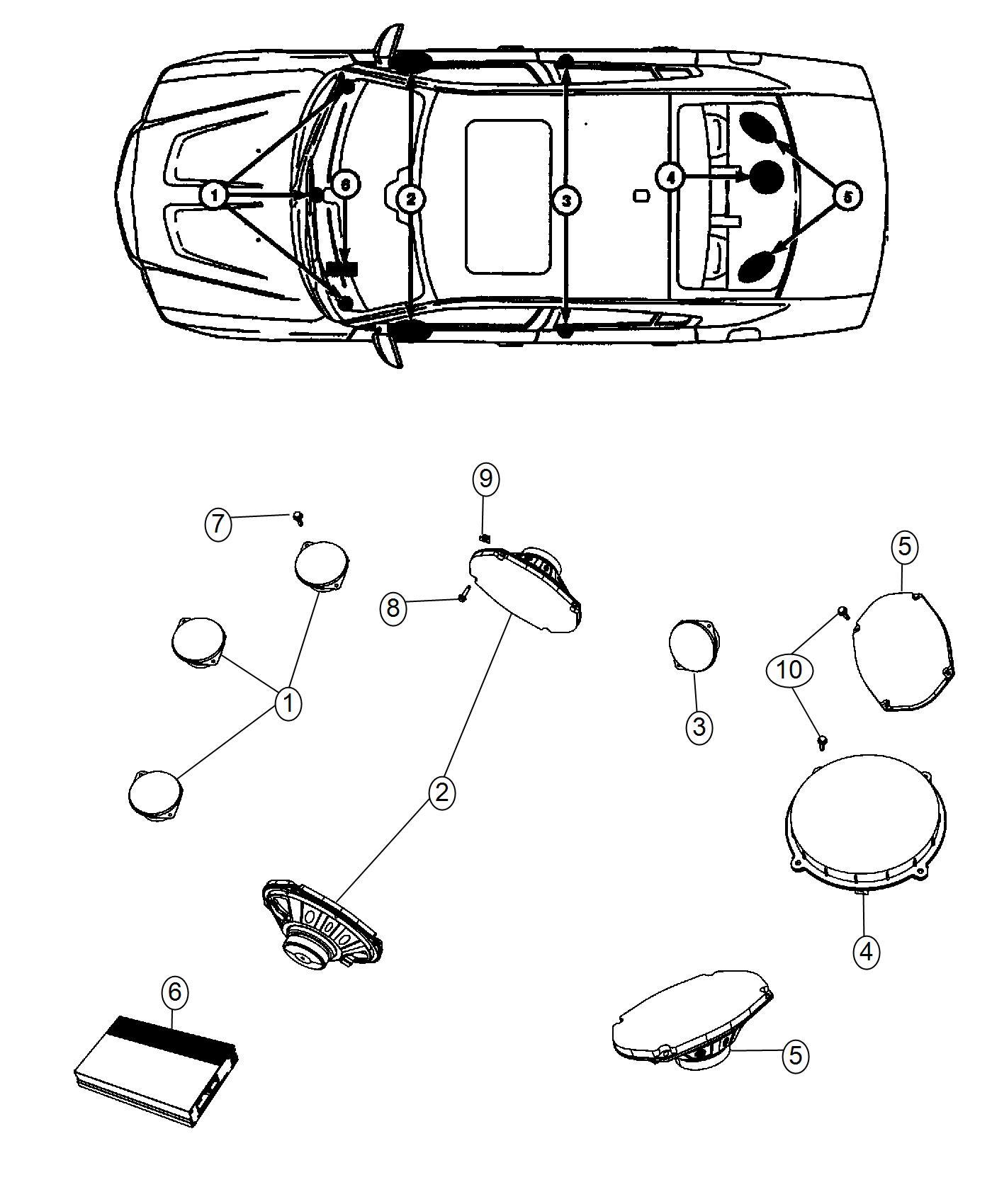 Dodge Charger Speaker Sub Woofer Shelf Panel High Perf Audio
