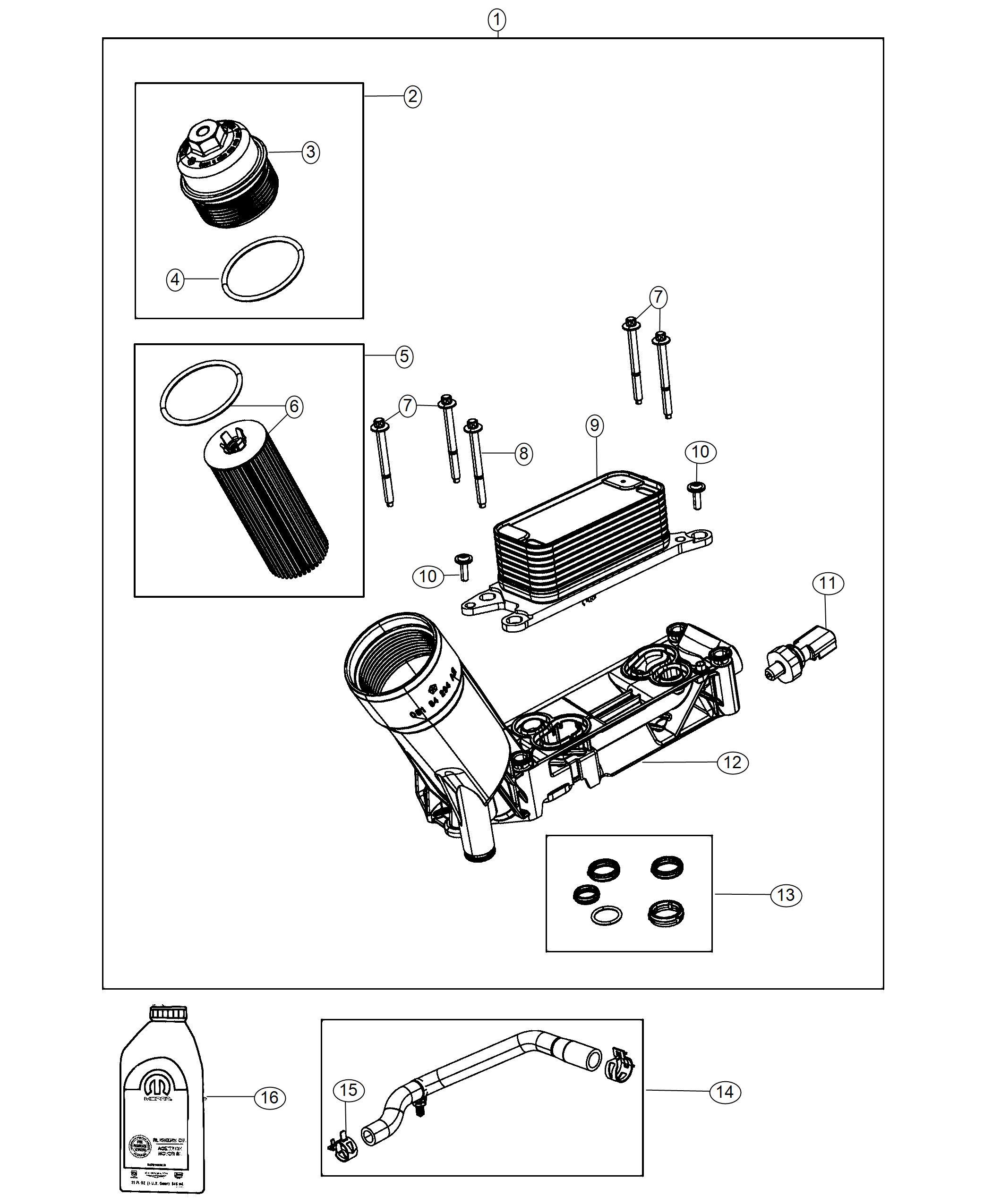 Dodge Durango Sensor Oil Pressure Temperature Pressure