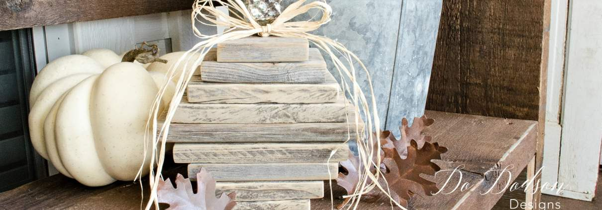 DIY Wooden Pumpkins