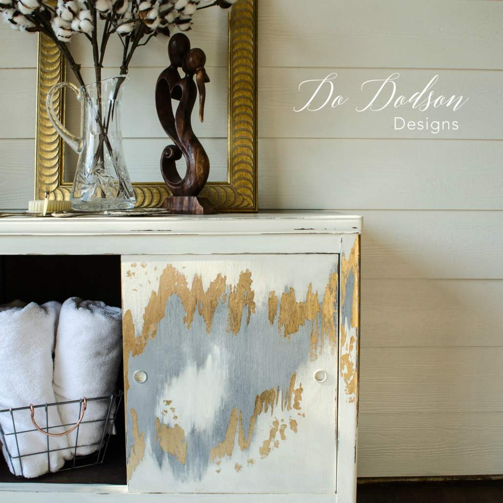 Gold Leaf Furniture That Will Make You Swoon! #dododsondesigns #goldleaf