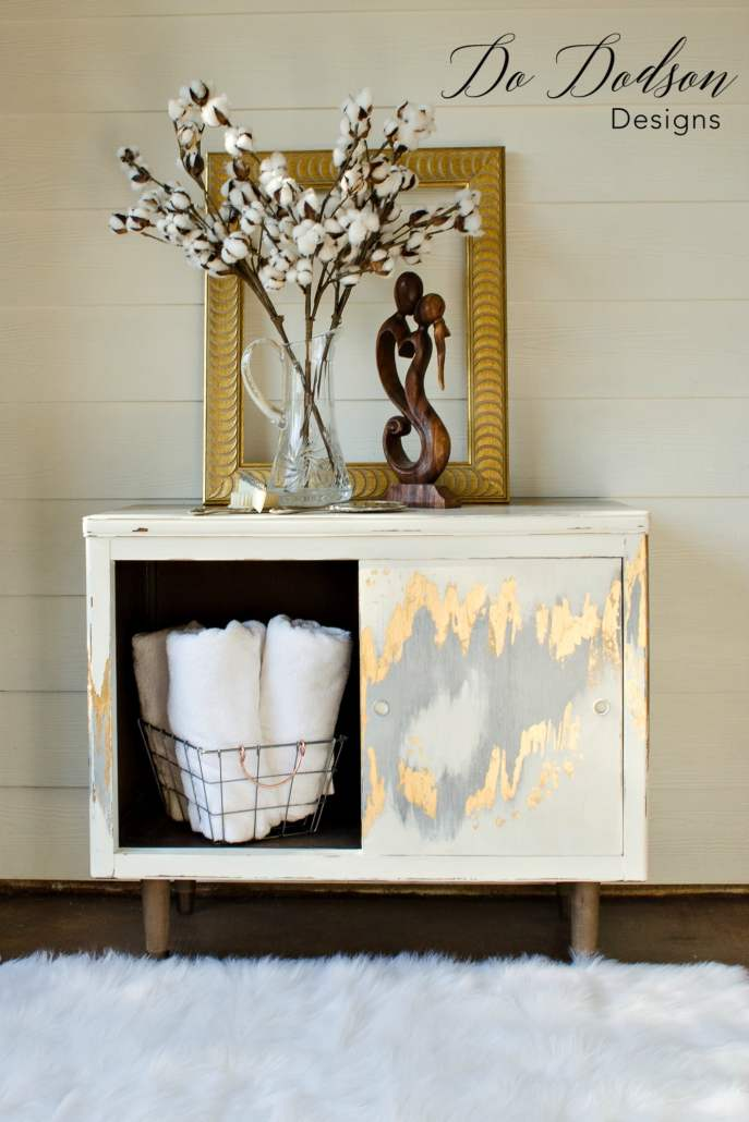Metallic silver and gold leaf finish for furniture. Gold Leaf Furniture That Will Make You Swoon! #dododsondesigns #goldleaf