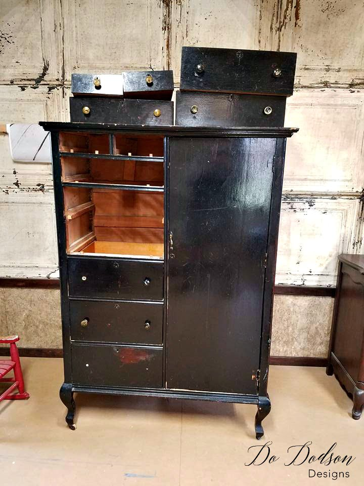 You won't believe the makeover this painted armoire is getting.