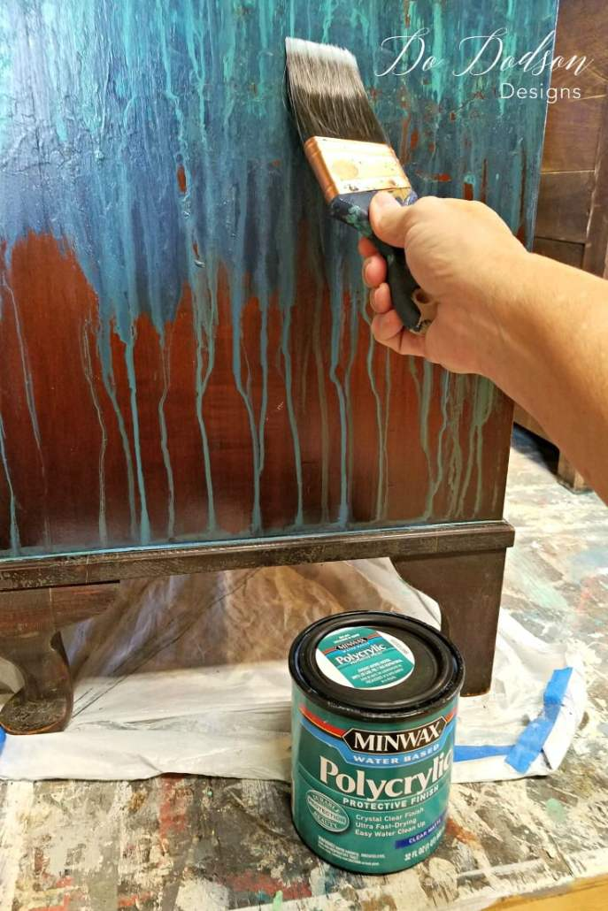 Wonderful Pool Finish Ideas For You To Copy: Copper Leaf Finish On Your Furniture That Will Blow Your Mind