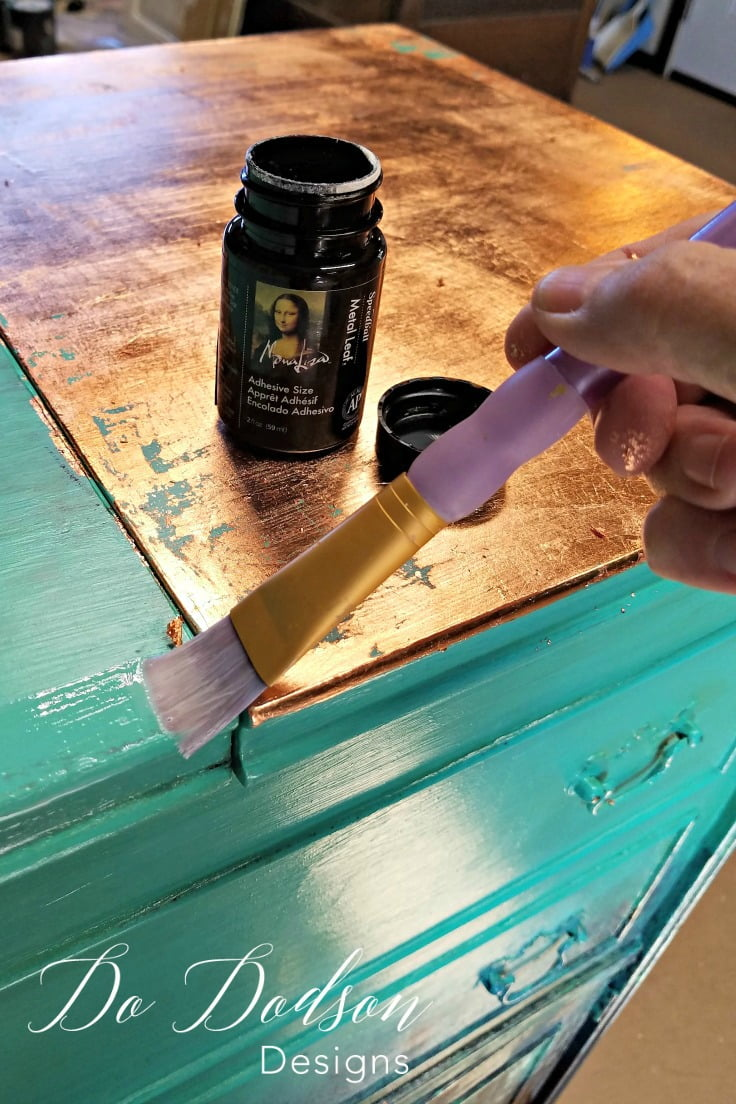 Always Applying A Thin Layer Of Glue Prior To Adding The Copper Leaf To  Your Furniture
