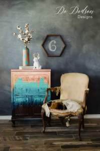 Forget paint! Try copper leaf finish on your furniture.