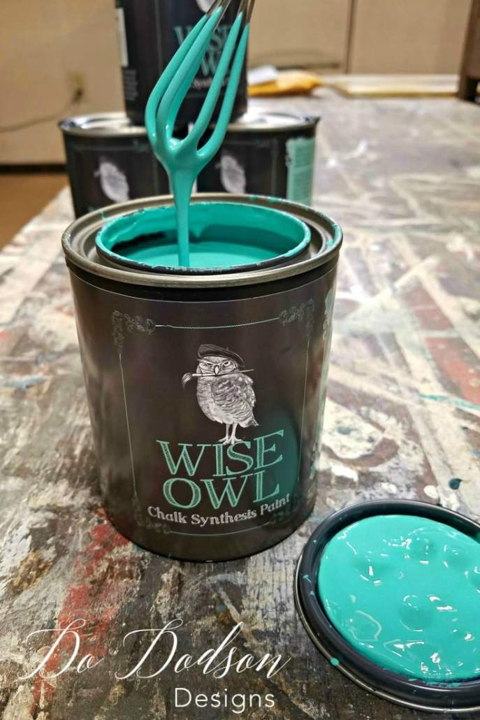 Wise Owl Chalk Synthesis Paint and copper leaf are the perfect combo! #copperleaf