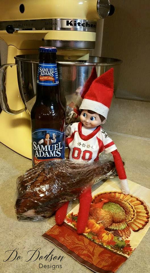 Elf on the shelf mischievous ideas stealing the left overs.