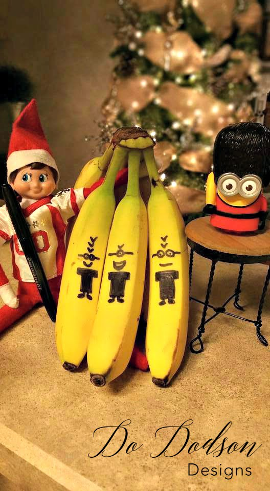 Elf on the shelf mischievious ideas with the minions.