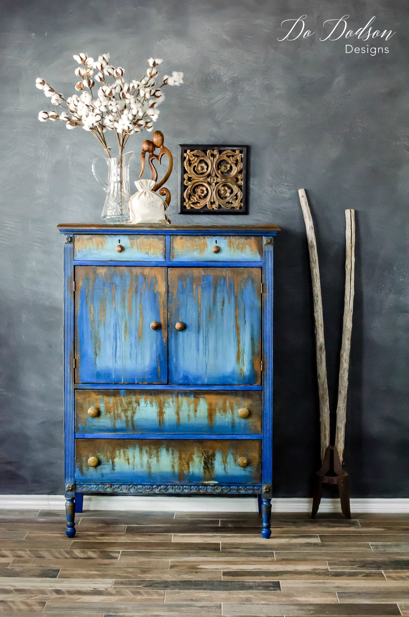 Oxidizing Rust Finish For Furniture