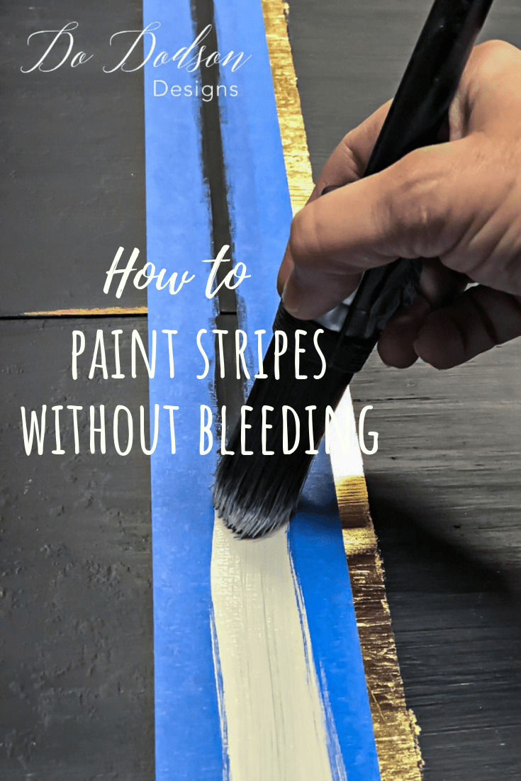 How to paint stripes without bleeding.