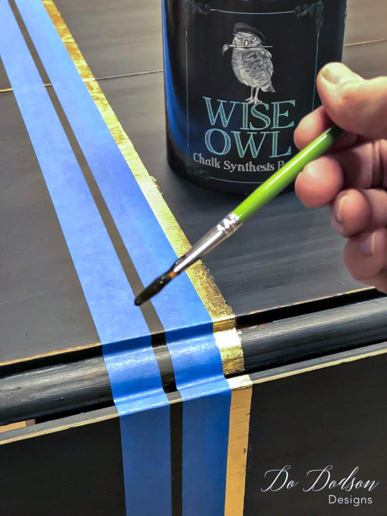 How to paint stripes on furniture like a pro.