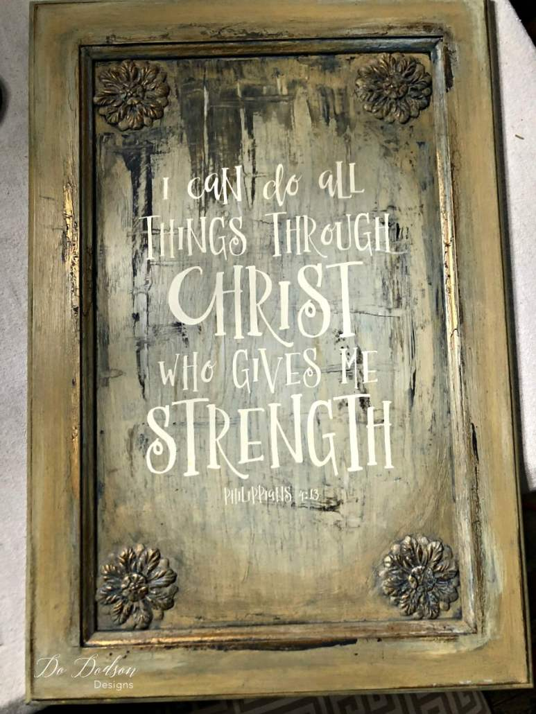I can do all things through Christ who gives me strength. Paint blending and IOD moulds. #paintblending #iodmoulds
