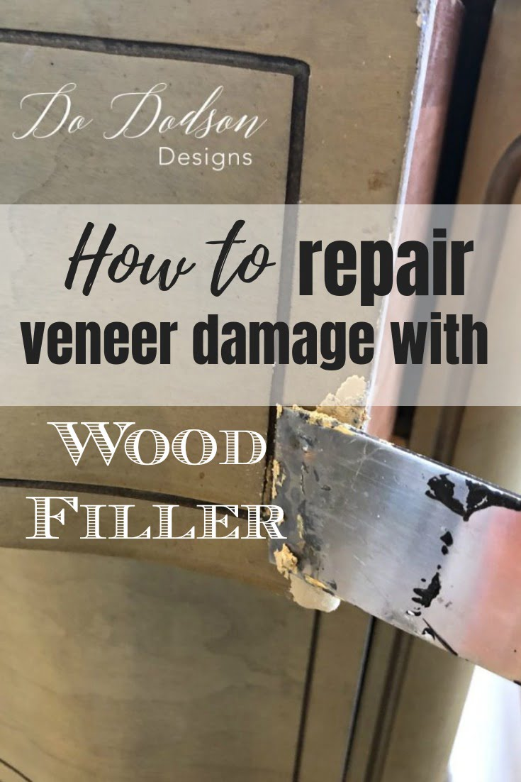 How to use Wood Filler to Repair Veneer Damage