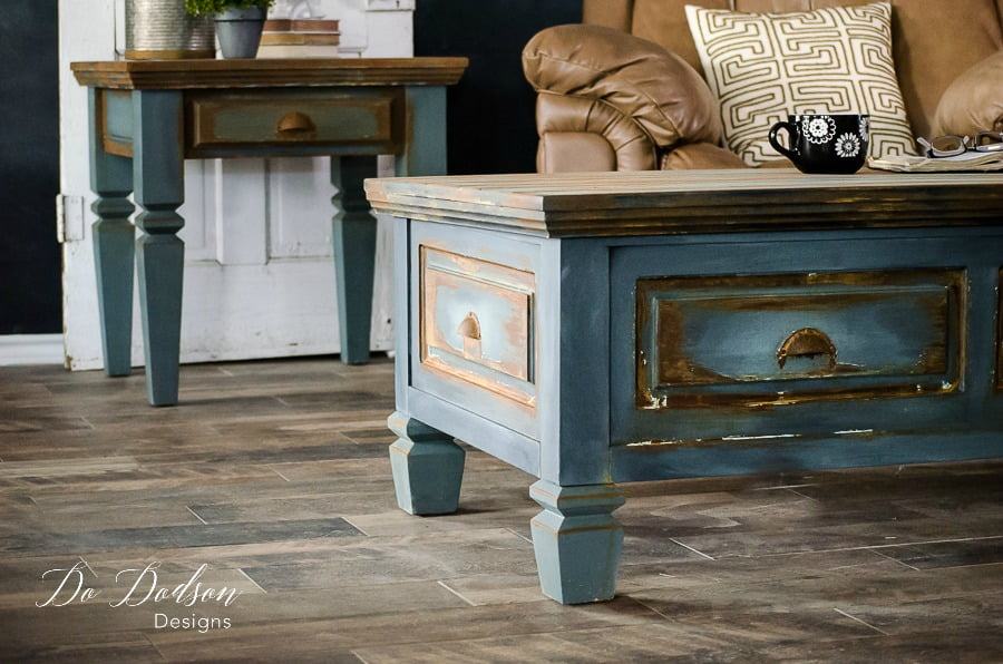 Man cave furniture that will make any man drool! #dododsondesigns #mancavefurniture #rusticfurniture #fauxfinish #rust #paintedfurniture #furnituremakeover