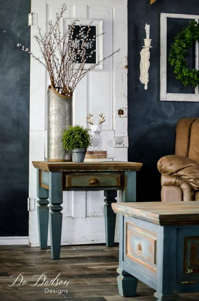 Man cave furniture that will make your man drool! #dododsondesigns #mancavefurniture #rusticfurniture #fauxfinish #rust #paintedfurniture #furnituremakeover
