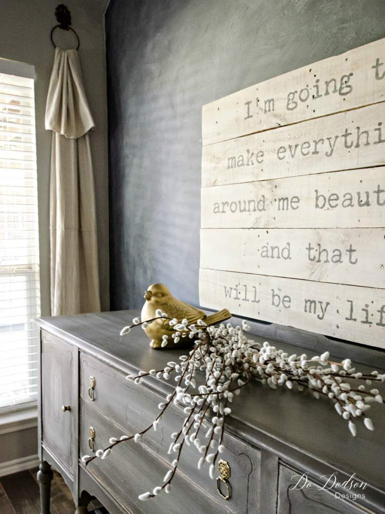 Eye Catching Grey Sideboard That Will Change Your Mind About Paint#dododsondesigns #greysideboard #paintedfurniture #furnituremakeover #diyproject #cracklefinish #weatheredlook #weathered