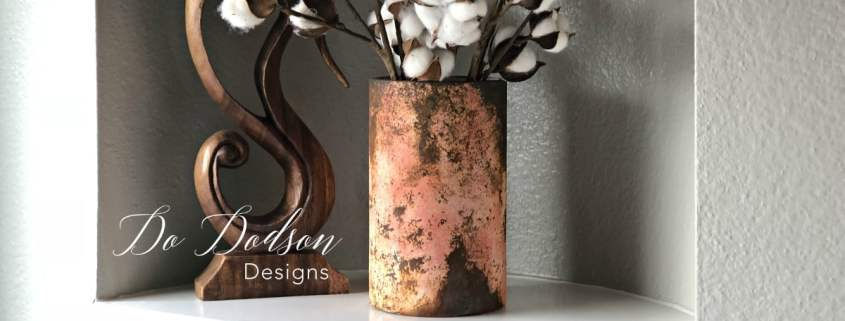 Look What Adding Rust Paint Did To These Glass Vases! #dododsondesigns #rustpaint #rusteffectpaint #paintedglass #bestpaintforglass #glasspaintingdesigns